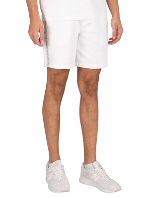 Calvin Klein Jeans Logo Jacquard Sweat Shorts - Bright White