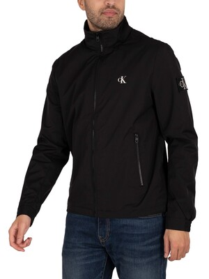 Calvin Klein Jeans Nylon Harrington Jacket - Black