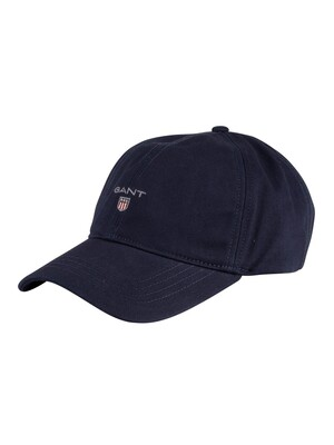 GANT Cotton Twill Baseball Cap - Marine