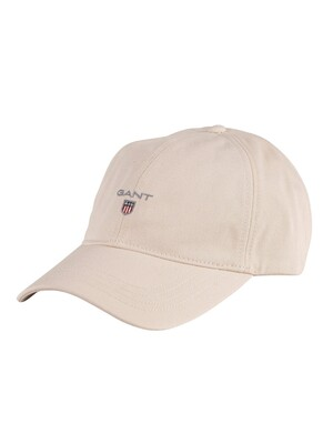GANT Cotton Twill Baseball Cap - Putty