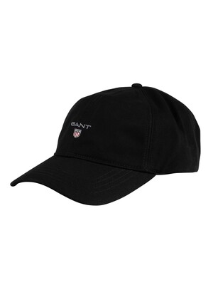 GANT Cotton Twill Baseball Cap - Black