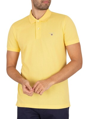 GANT Original Slim Pique Rugger Polo Shirt - Brimstone Yellow