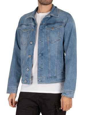 G-Star 3301 Slim Denim Jacket - Sun Faded Stone