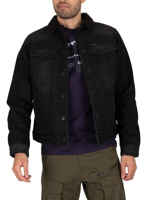 G-Star 3301 Slim Sherpa Jacket - Jet Black