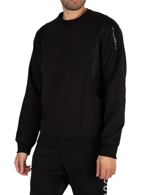 G-Star Moto Mesh Sweatshirt - Dark Black