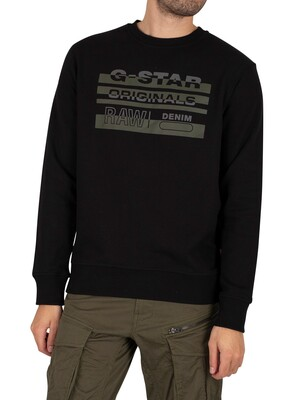 G-Star Orginal Graphic Sweatshirt - Dark Black