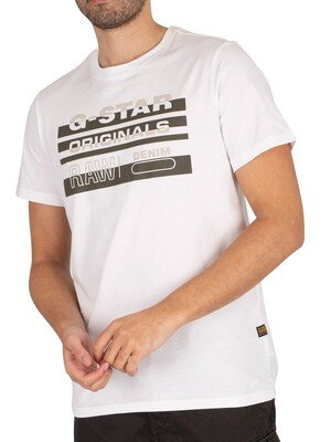G-Star Originals Stripe Logo T-Shirt - White