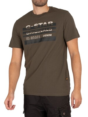G-Star Originals Stripe Logo T-Shirt - Combat