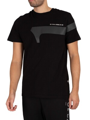 G-Star Reflective Graphic T-Shirt - Dark Black