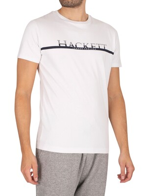 Hackett London Chest Stripe T-Shirt - White