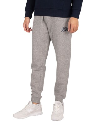 Jack & Jones Gordon New Soft Logo Joggers - Light Grey Marl