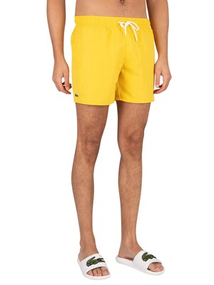 Lacoste Logo Swim Shorts - Yellow