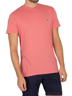 Lacoste Pima Cotton Logo T-Shirt - Rose