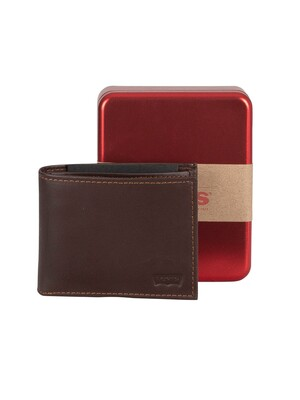 Levi's Casual Classics Leather Wallet - Dark Brown