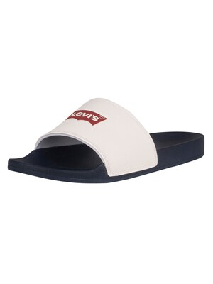 Levi's June Batwing Sliders - Regular White