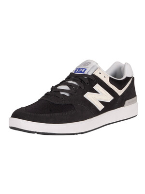 New Balance All Coasts 574 Suede Trainers - Phantom/White