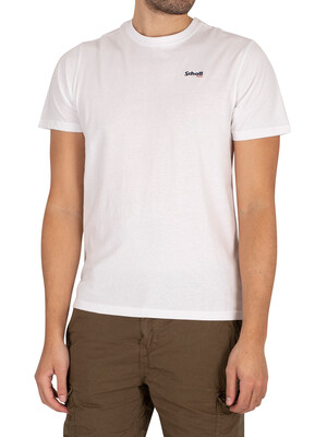 Schott Logo Casual T-Shirt - White