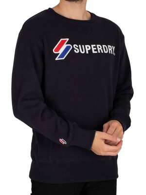 Superdry Sportstyle Applique Sweatshirt - Deep Navy