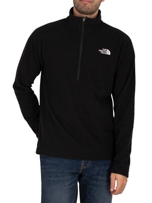 The North Face Textured Cap Rock 1/4 Zip Sweatshirt - Black