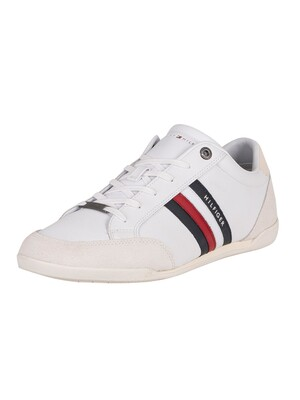 Tommy Hilfiger Corporate Material Mix Cupsole Trainers - White