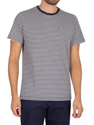 Tommy Jeans Classics Stripe T-Shirt - Twilight Navy