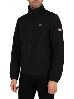 Tommy Jeans Essential Casual Bomber Jacket - Black