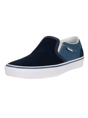 Vans Asher Retro Sport Trainers - Navy/Moroccan Blue