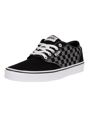Vans Atwood Checker Dot Trainers - Black/White