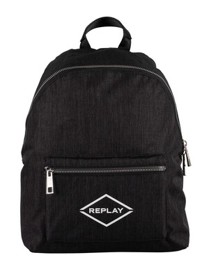 Replay Logo Backpack - Dark Grey