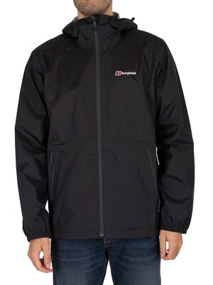 Berghaus Deluge Light Shell Jacket - Black/Black