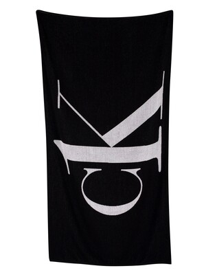 Calvin Klein CK One Logo Beach Towel - Black