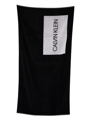 Calvin Klein Core Lifestyle Beach Towel - Black