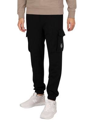 Calvin Klein Jeans Cargo Badge Fleece Joggers - Black