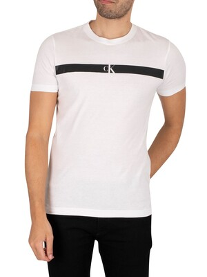Calvin Klein Jeans Horizontal Panel T-Shirt - Bright White