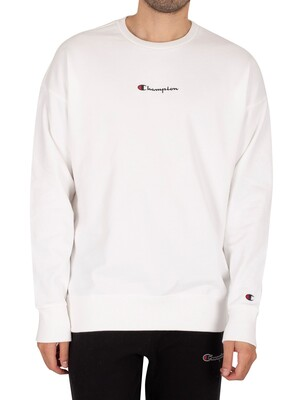 Champion American Fit Graphic Sweatshirt - White