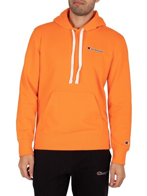 Champion Comfort Chest Logo Pullover Hoodie - Orange