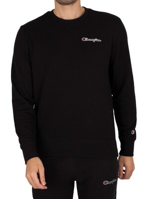 Champion Comfort Chest Logo Sweatshirt - Black