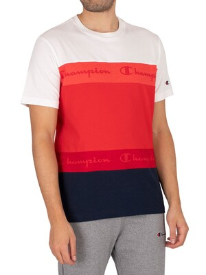 Champion Comfort Graphic T-Shirt - Red/White/Blue