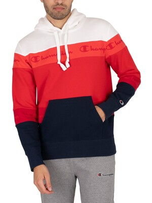 Champion Comfort Pullover Hoodie - Red/White/Blue