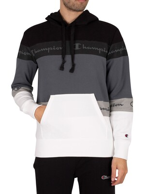 Champion Comfort Pullover Hoodie - Black/Grey/White