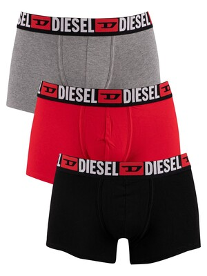 Diesel 3 Pack Damien Trunks - Black/Red/Grey