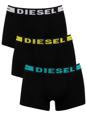 Diesel 3 Pack Kory Trunks - Black