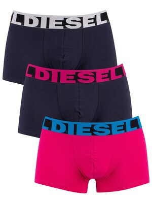 Diesel 3 Pack Shawn Trunks - Pink/Navy/Navy