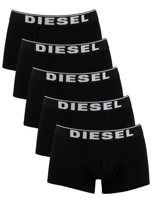 Diesel 5 Pack Basic Damien Trunks - Black
