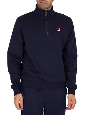 Fila Gully Funnel Neck 1/4 Zip Sweatshirt - Peacoat