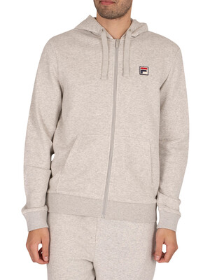 Fila Melvin Essential Zip Hoodie - Light Grey Marl