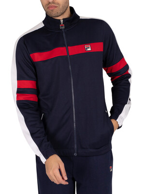 Fila Peridot Laid On Stripe Track Jacket - Peacoat/Red