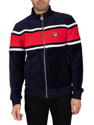 Fila Slane Velour Track Jacket - Peacoat/Red/White