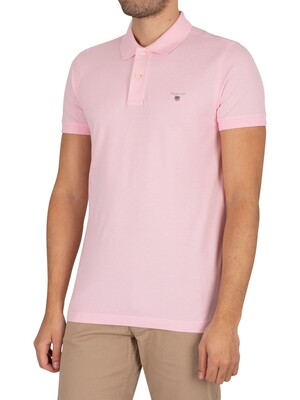 GANT Original Slim Pique Rugger Slim Polo Shirt - California Pink