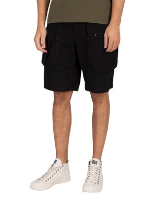 G-Star Alpine Modular Cargo Shorts - Dark Black